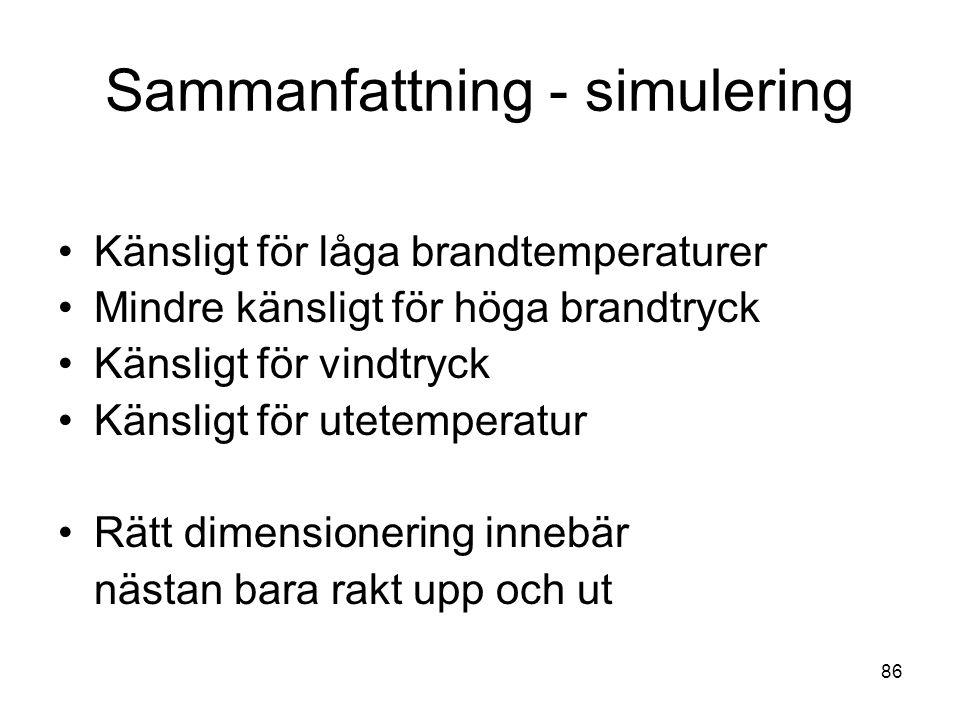 Sammanfattning - simulering