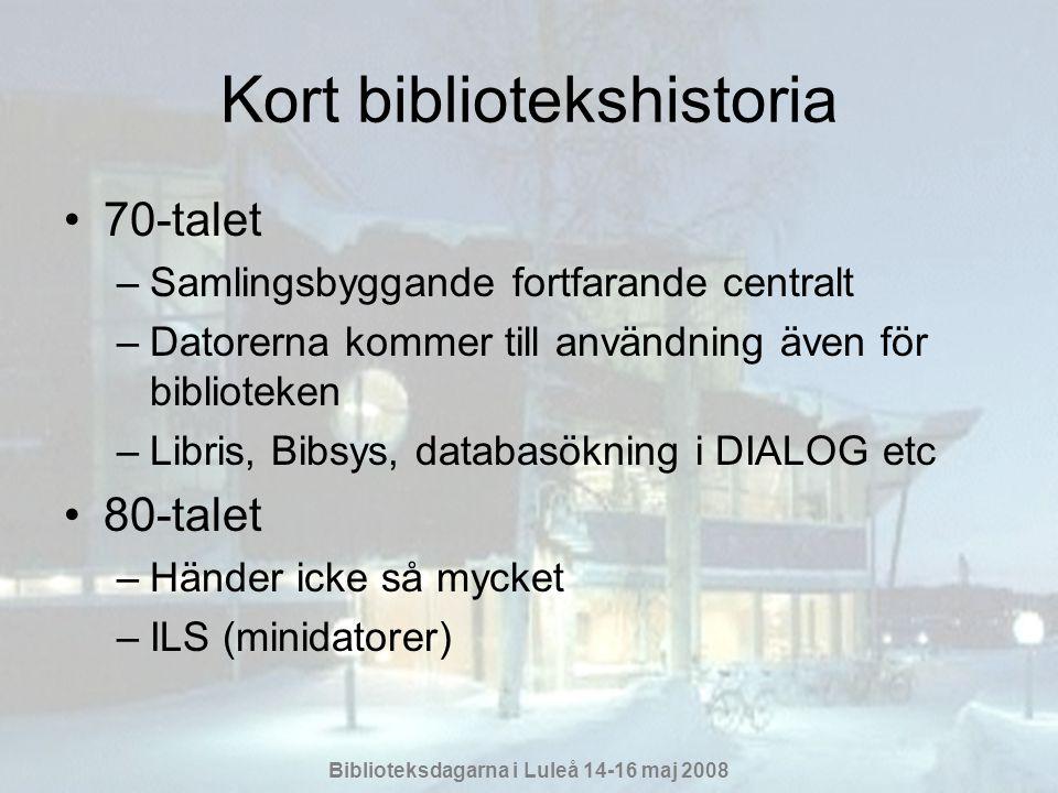 Kort bibliotekshistoria