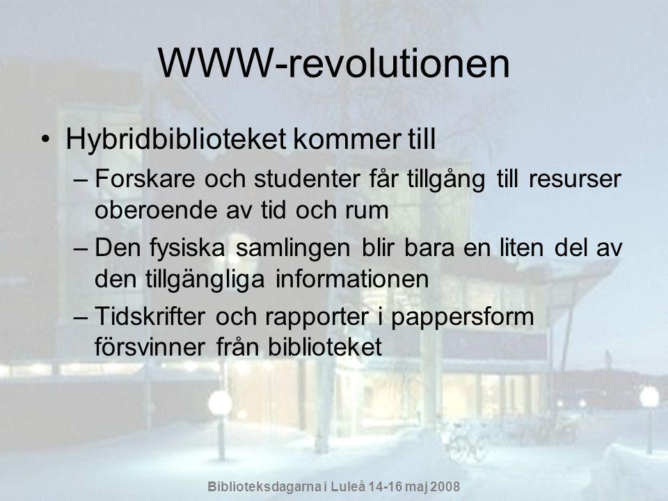 WWW-revolutionen Hybridbiblioteket kommer till