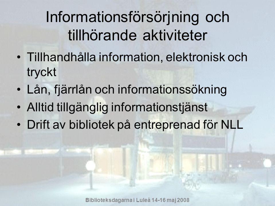 Informationsförsörjning och tillhörande aktiviteter