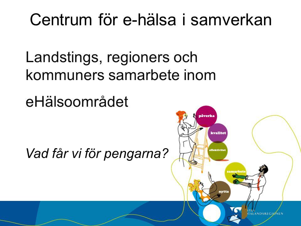 Landstings, regioners och kommuners samarbete inom eHälsoområdet