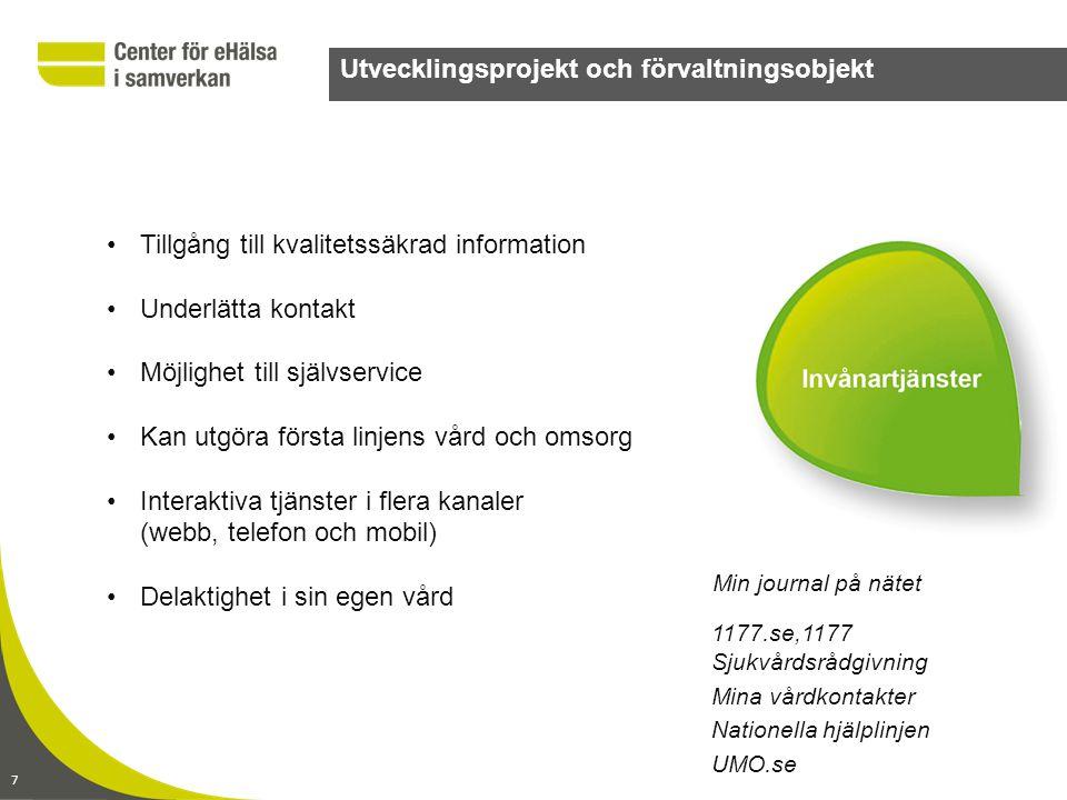Utvecklingsprojekt och förvaltningsobjekt