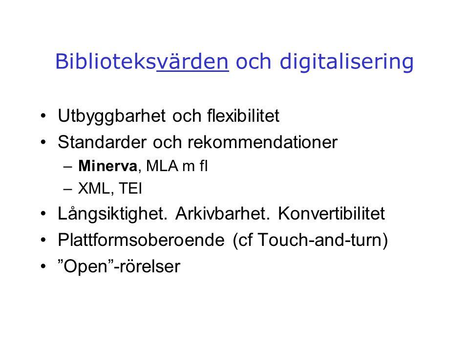 Biblioteksvärden och digitalisering