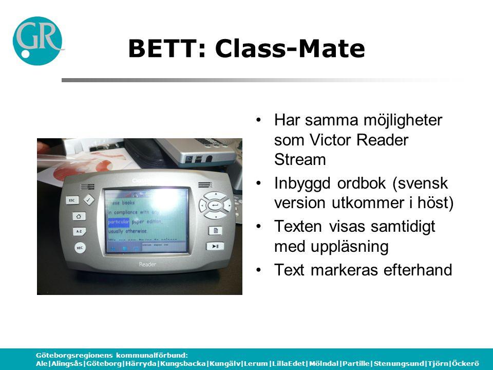 BETT: Class-Mate Har samma möjligheter som Victor Reader Stream