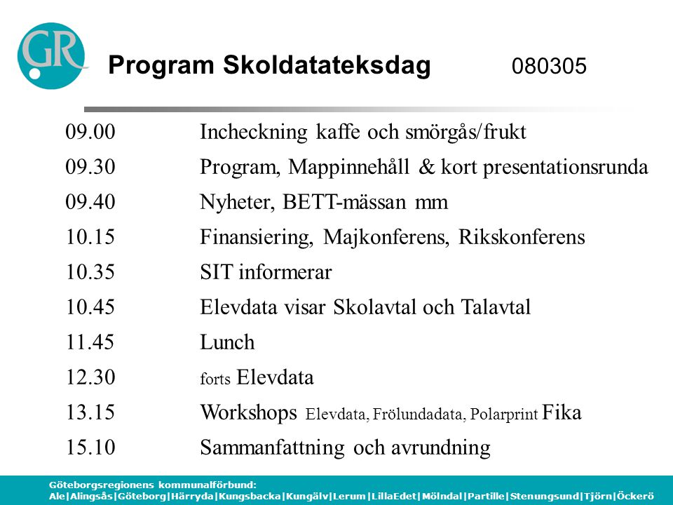 Program Skoldatateksdag 080305