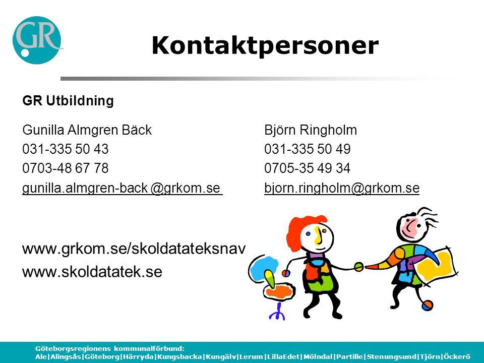 Kontaktpersoner www.grkom.se/skoldatateksnav www.skoldatatek.se