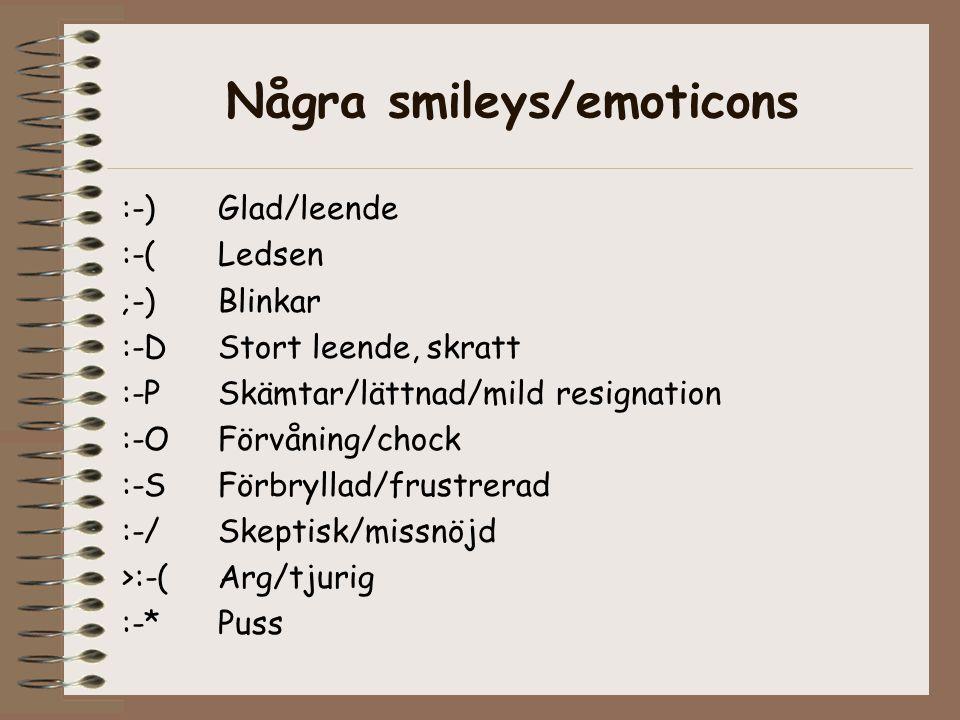 Några smileys/emoticons