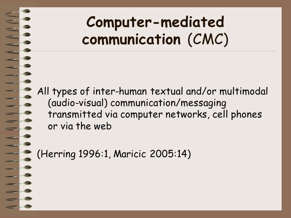 Computer-mediated communication (CMC)