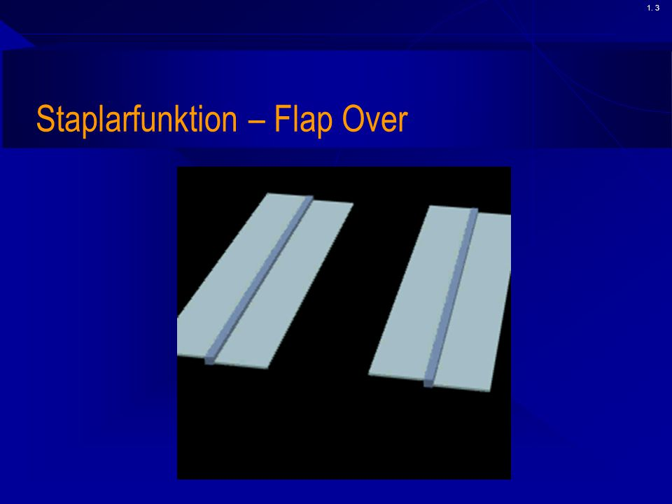 Staplarfunktion – Flap Over
