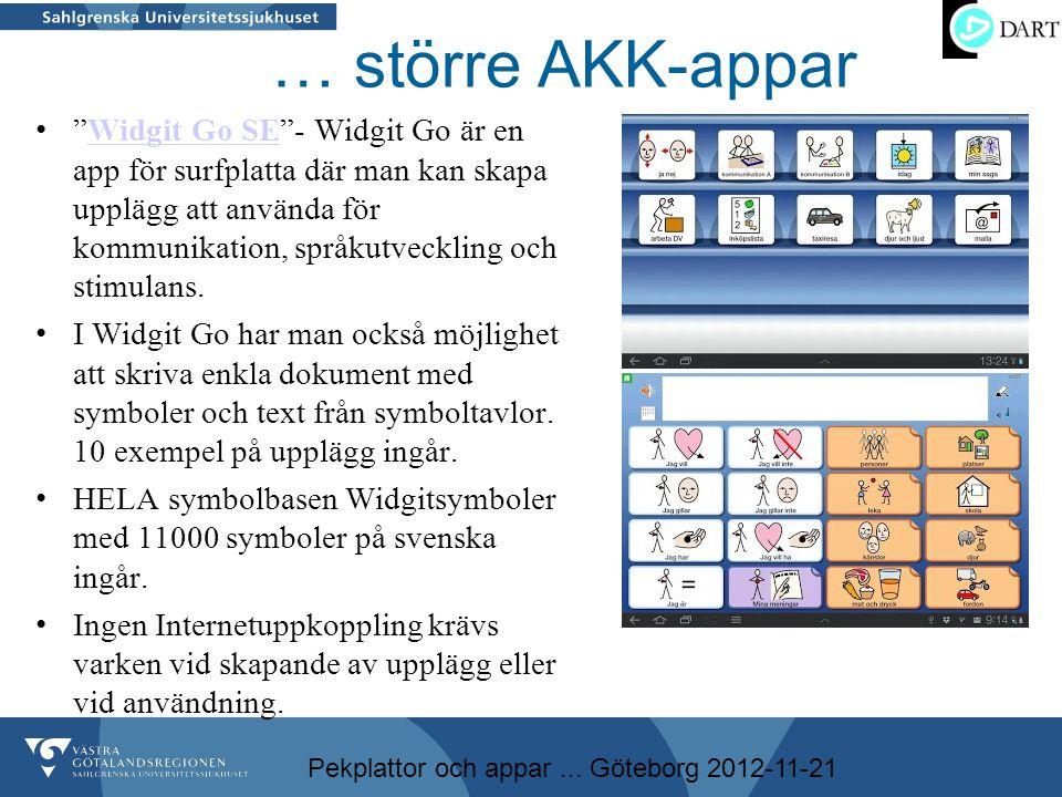 … större AKK-appar
