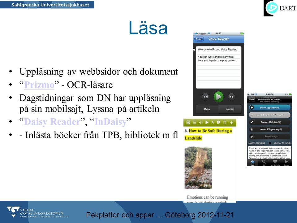 Läsa Uppläsning av webbsidor och dokument Prizmo - OCR-läsare