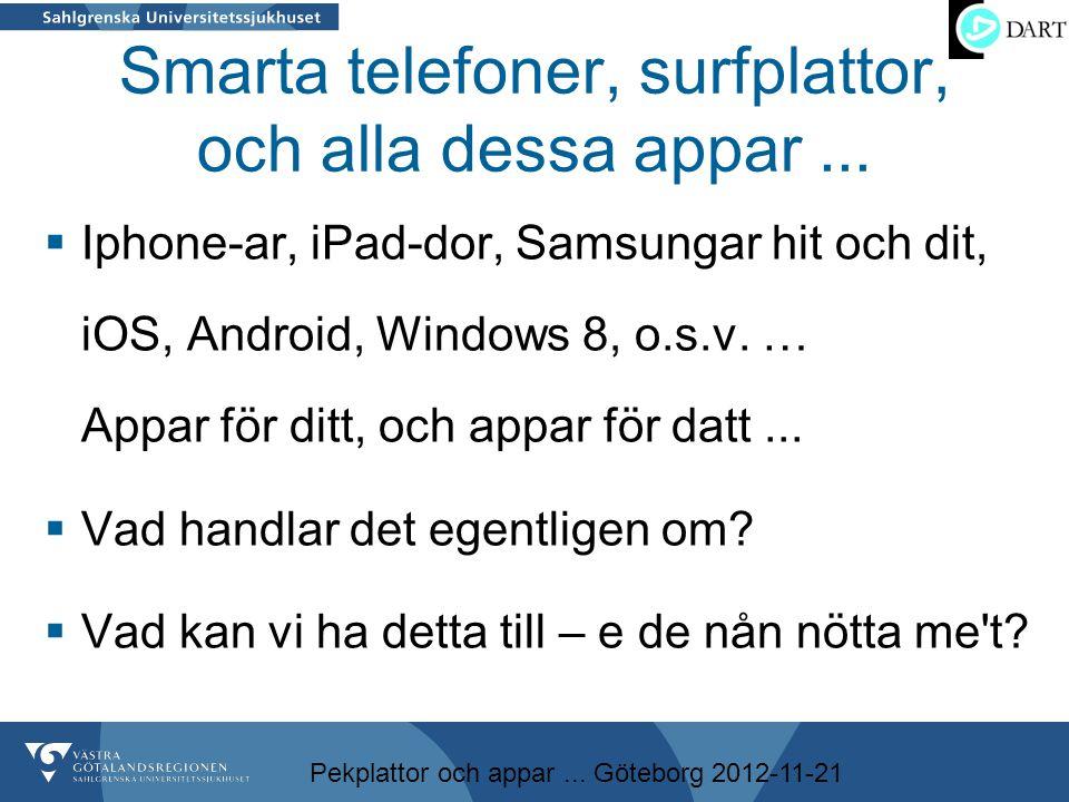 Smarta telefoner, surfplattor, och alla dessa appar ...
