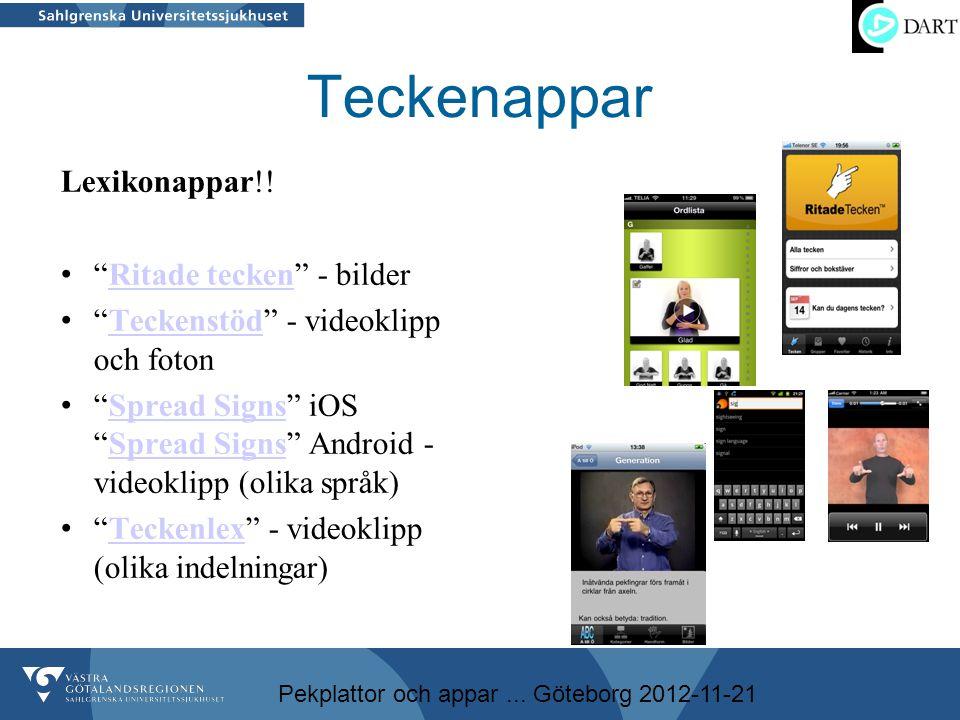 Teckenappar Lexikonappar!! Ritade tecken - bilder