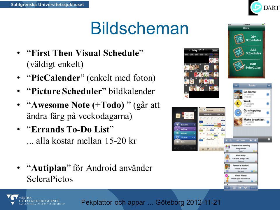 Bildscheman First Then Visual Schedule (väldigt enkelt)
