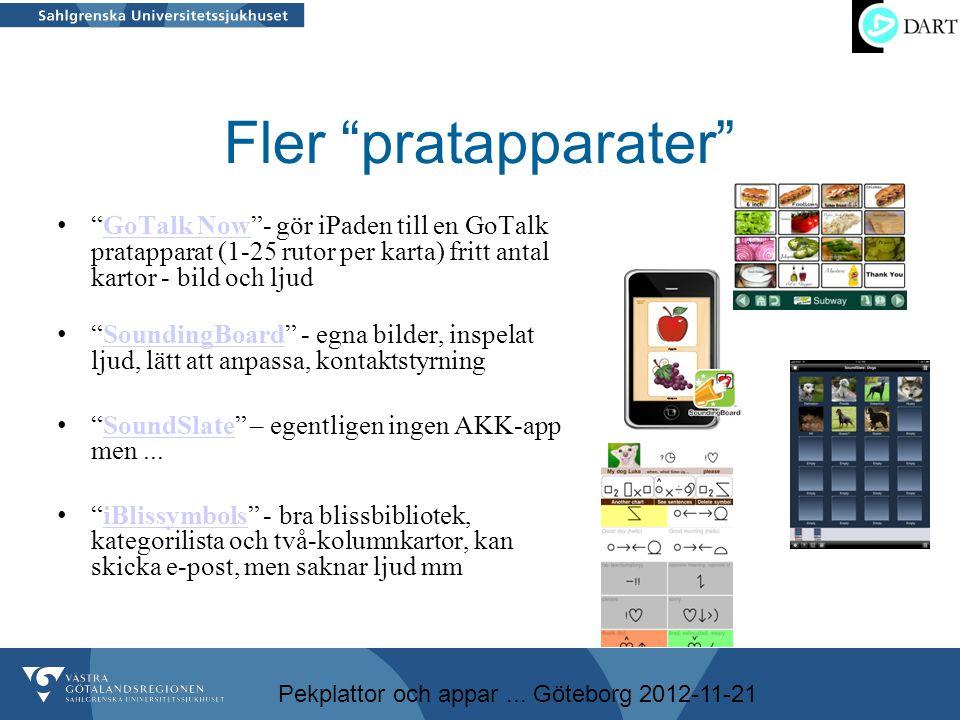 Fler pratapparater GoTalk Now - gör iPaden till en GoTalk pratapparat (1-25 rutor per karta) fritt antal kartor - bild och ljud.