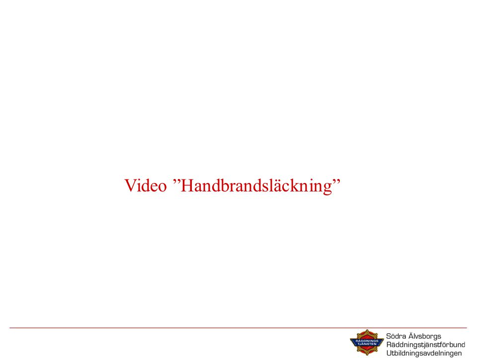 Video Handbrandsläckning