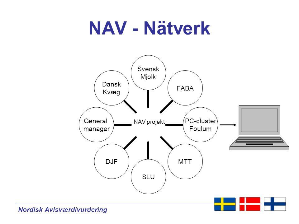 NAV - Nätverk NAV projekt Nordisk Avlsværdivurdering