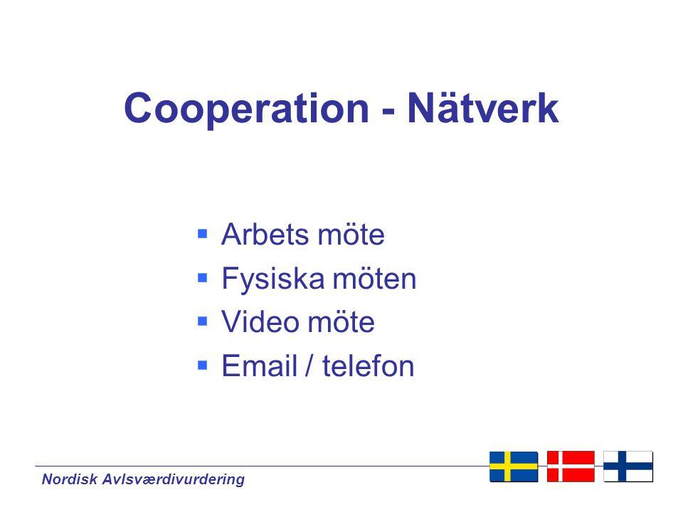 Cooperation - Nätverk Arbets möte Fysiska möten Video möte