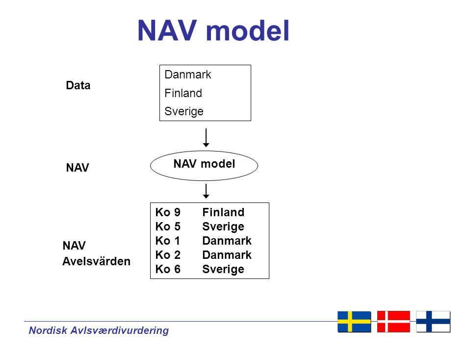 NAV model Danmark Finland Data Sverige NAV model NAV Ko 9 Finland