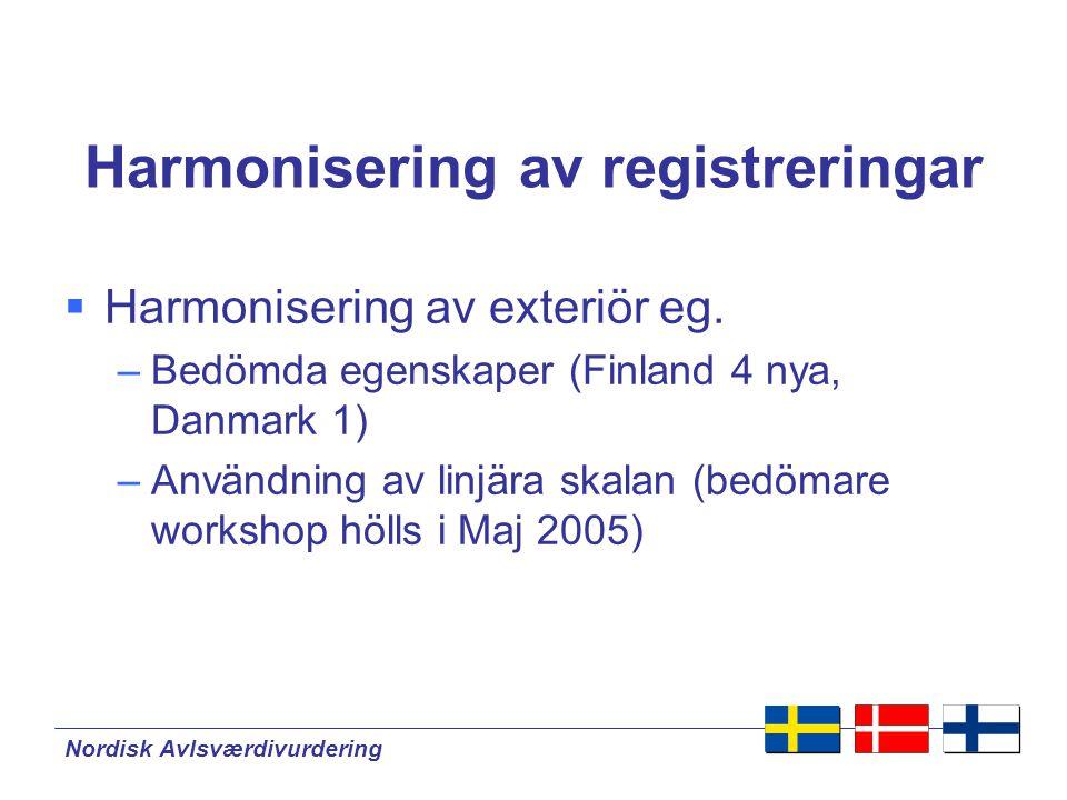 Harmonisering av registreringar