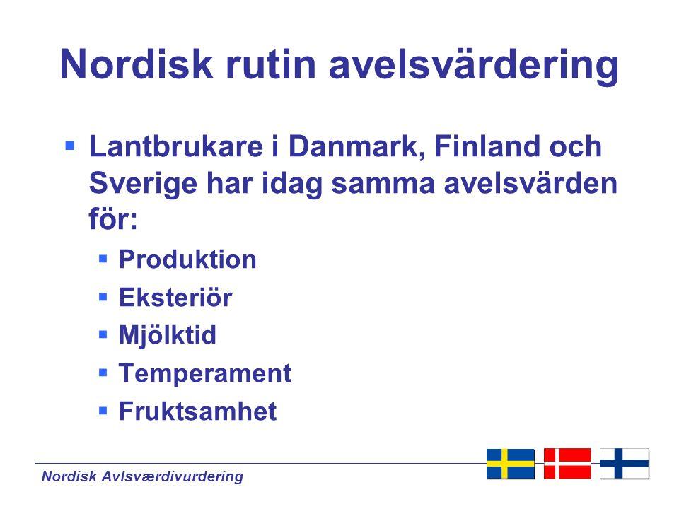 Nordisk rutin avelsvärdering