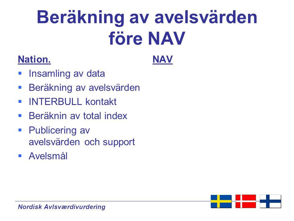 Beräkning av avelsvärden före NAV