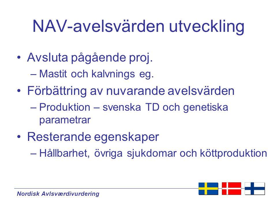NAV-avelsvärden utveckling