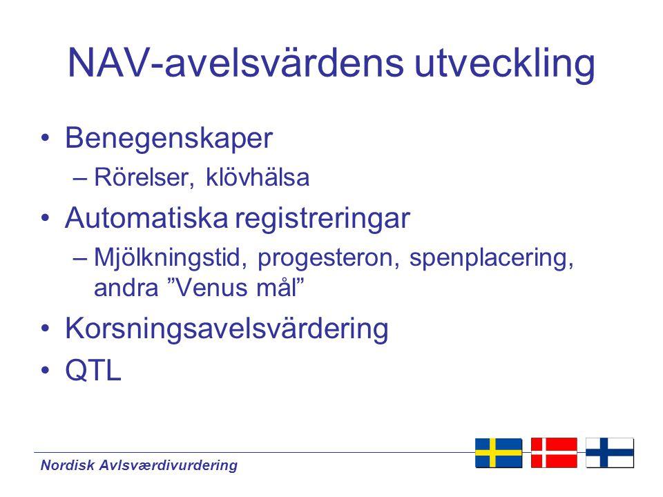 NAV-avelsvärdens utveckling