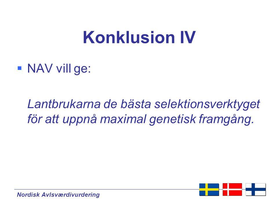 Konklusion IV NAV vill ge: