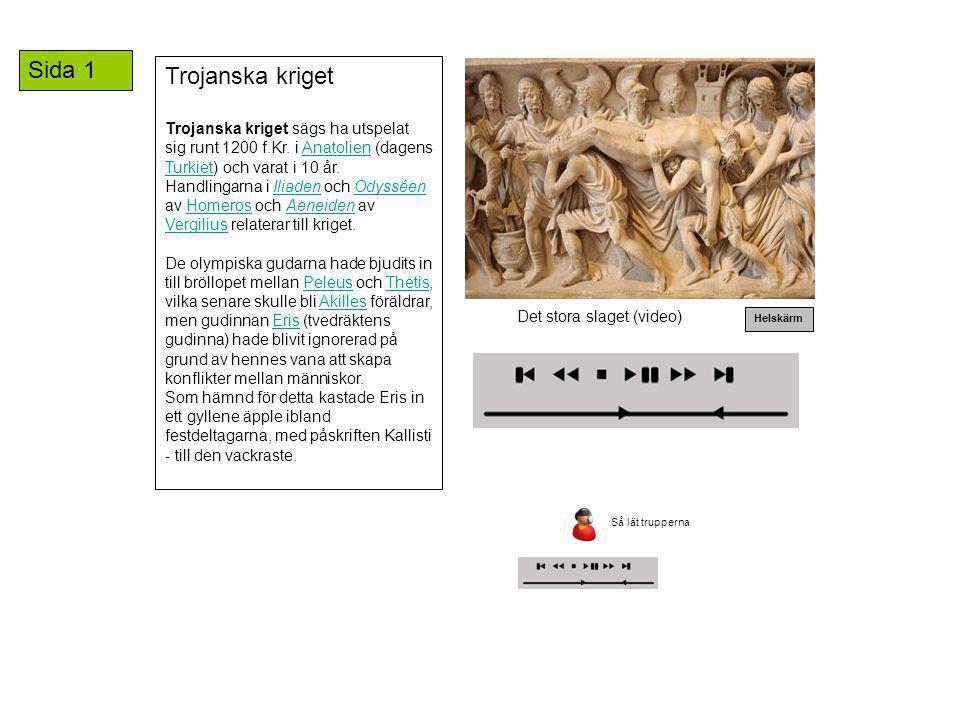 Sida 1 Trojanska kriget.