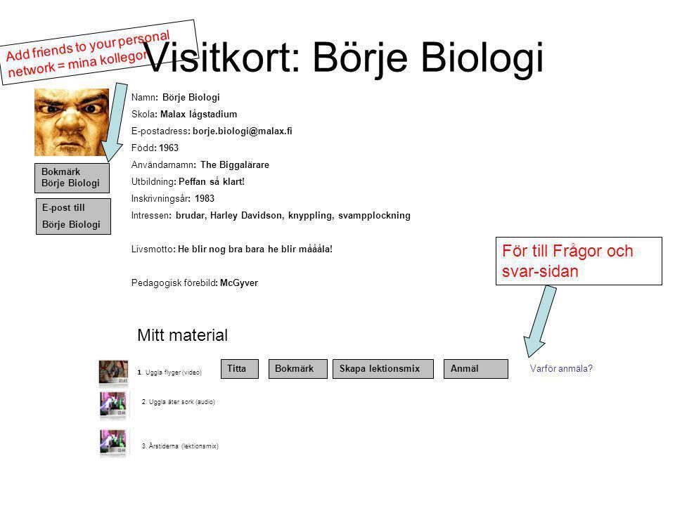 Visitkort: Börje Biologi