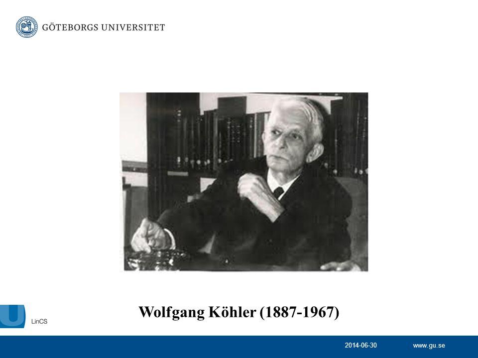 Wolfgang Köhler (1887-1967) 2017-04-03