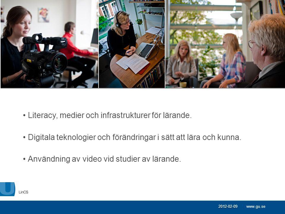 Literacy, medier och infrastrukturer för lärande.