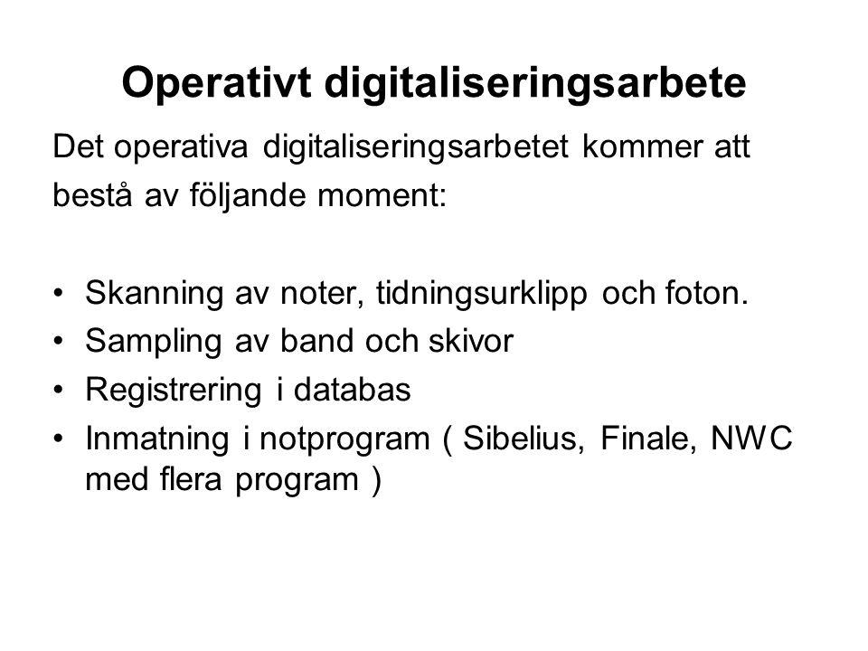 Operativt digitaliseringsarbete
