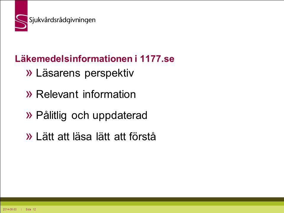 Läkemedelsinformationen i 1177.se