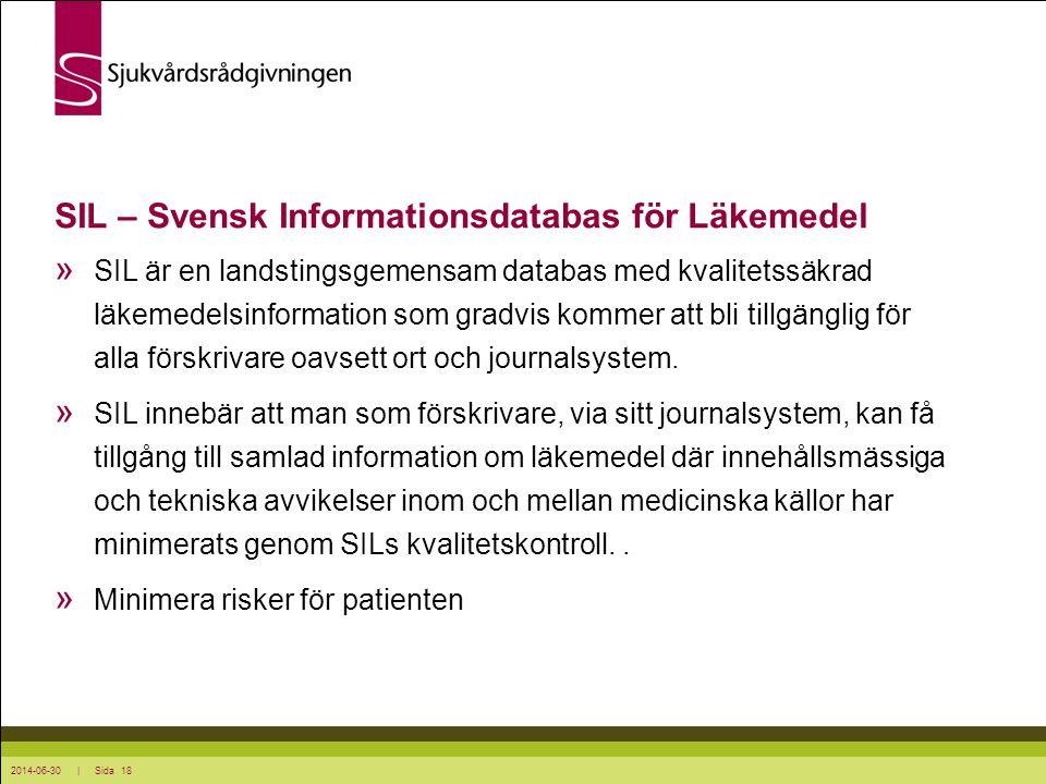 SIL – Svensk Informationsdatabas för Läkemedel