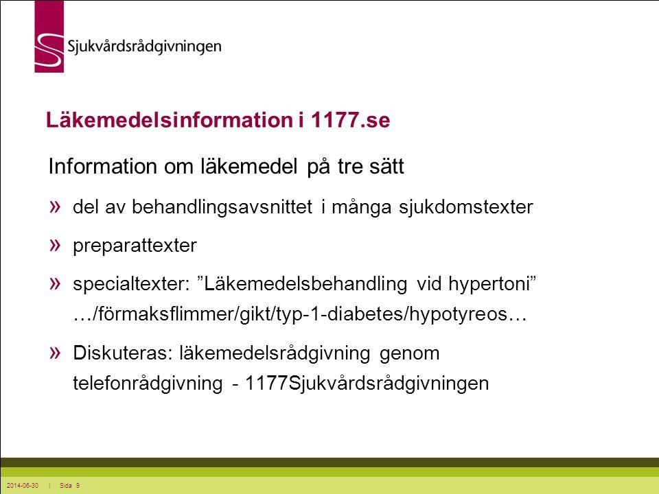 Läkemedelsinformation i 1177.se