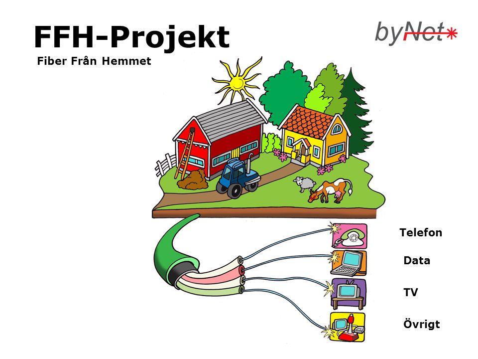 FFH-Projekt Fiber Från Hemmet Telefon Data TV Övrigt