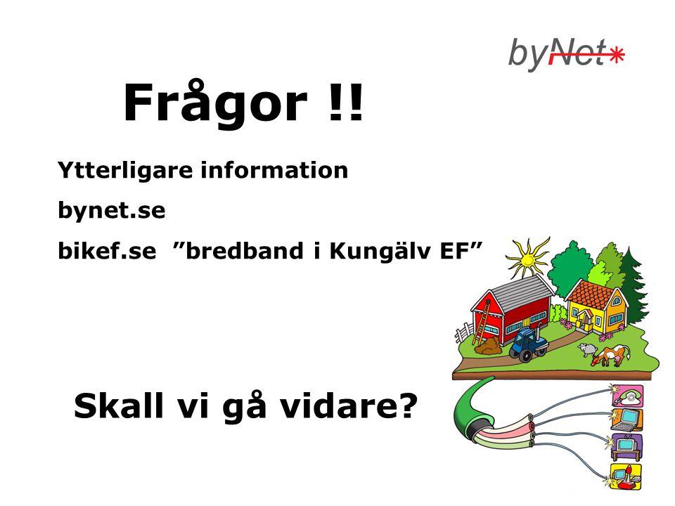 Frågor !! Skall vi gå vidare Ytterligare information bynet.se