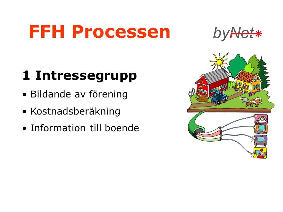 FFH Processen 1 Intressegrupp Bildande av förening Kostnadsberäkning