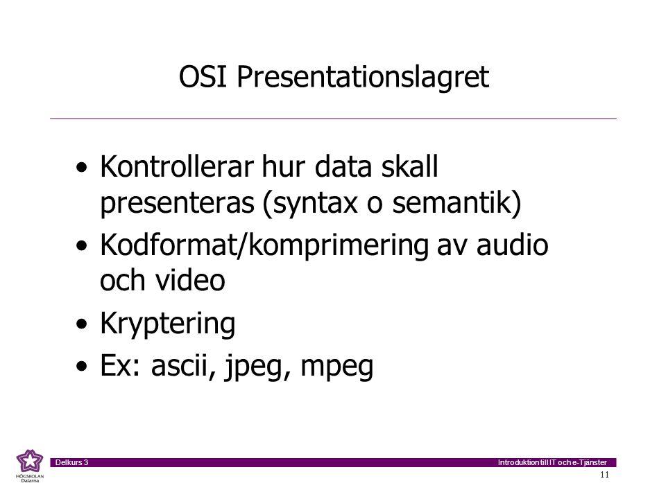OSI Presentationslagret