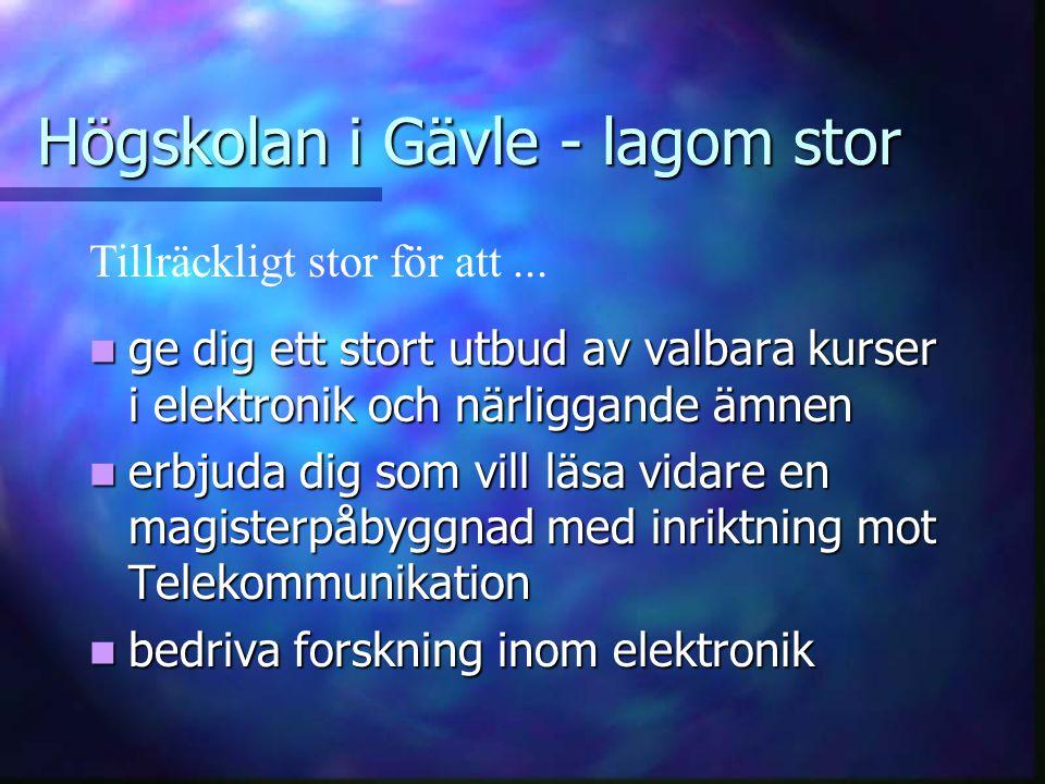 Högskolan i Gävle - lagom stor