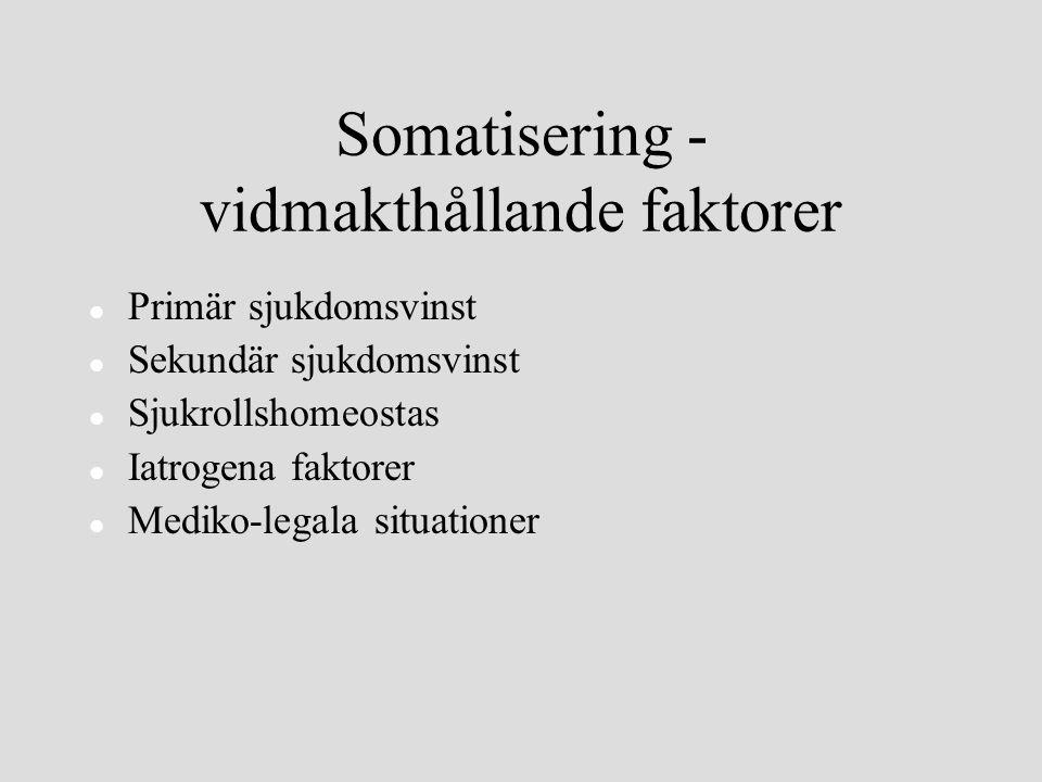 Somatisering - vidmakthållande faktorer