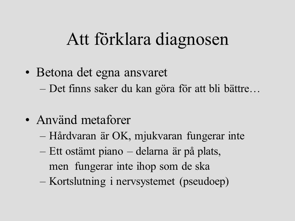 Att förklara diagnosen