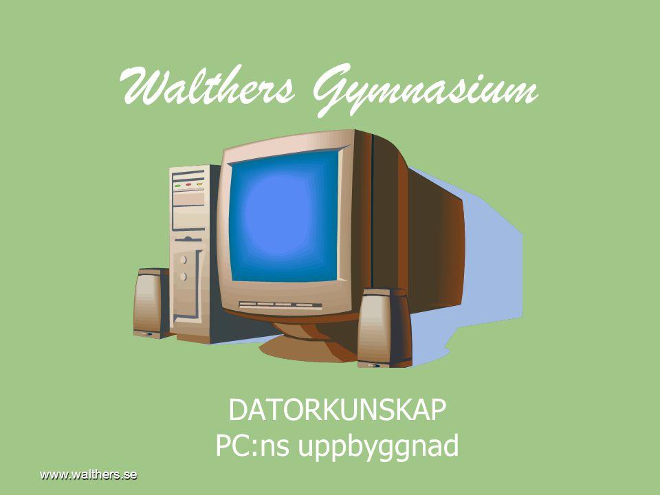 www.walthers.se DATORKUNSKAP PC:ns uppbyggnad