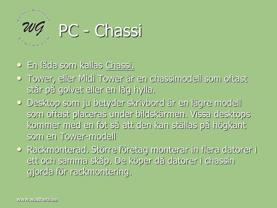 PC - Chassi En låda som kallas Chassi.