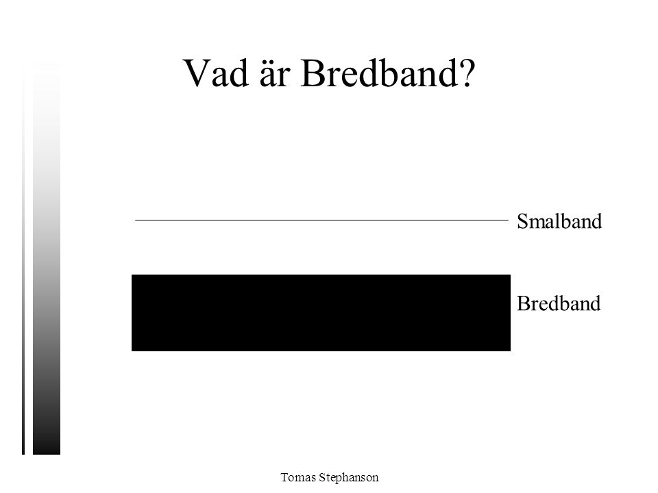 Vad är Bredband Smalband Bredband Tomas Stephanson