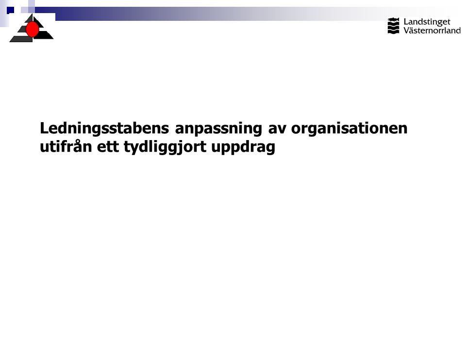 Ledningsstabens anpassning av organisationen utifrån ett tydliggjort uppdrag