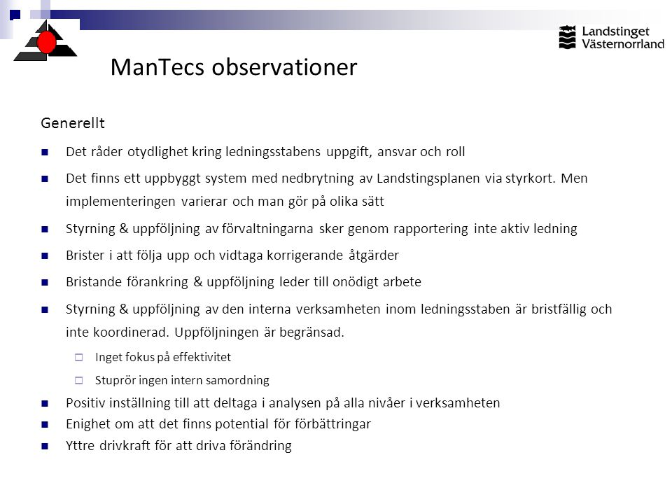 ManTecs observationer