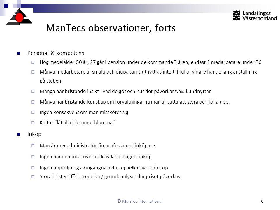 ManTecs observationer, forts
